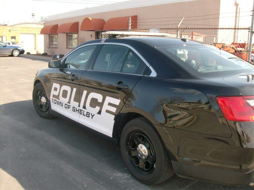 Town of Shelby Police Car